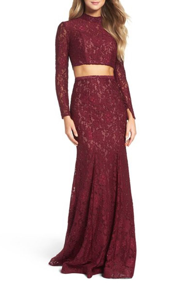 Prom Dress Trends for 2017: Sequins, Lace, Two-Pieces and Merlot