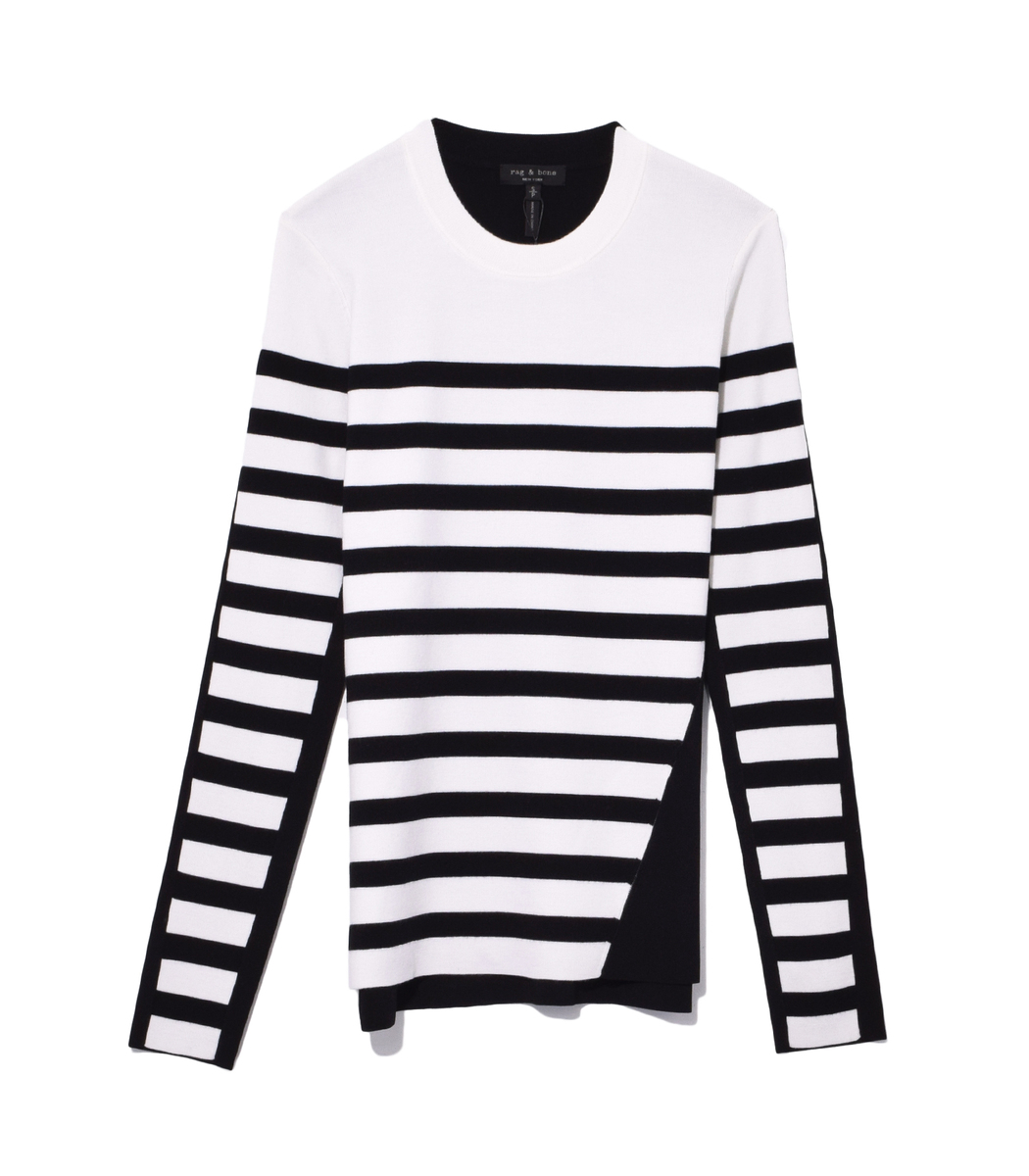 Rag and Bone Cecilee Stripe Pullover Found Objects
