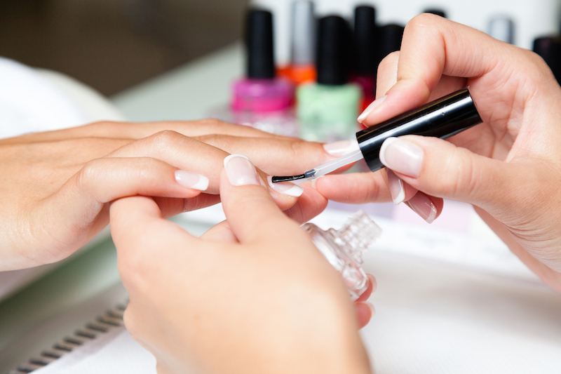 Waterless manicure and pedicure at Colorbox